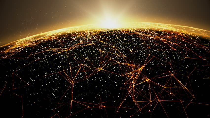 Connection lines Around Earth Globe, Futuristic Technology  Theme Background with Light Effect/Global International Connectivity Background | Shutterstock HD Video #30296005