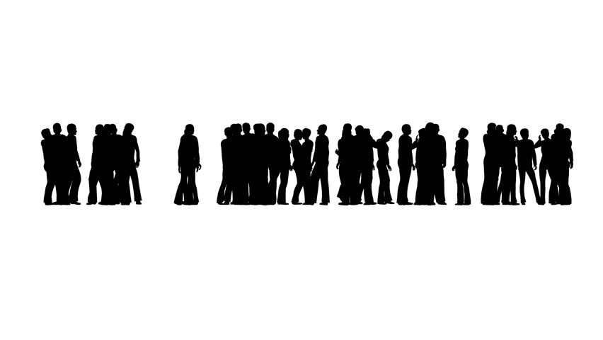 Standing crowd silhouette - photo#51