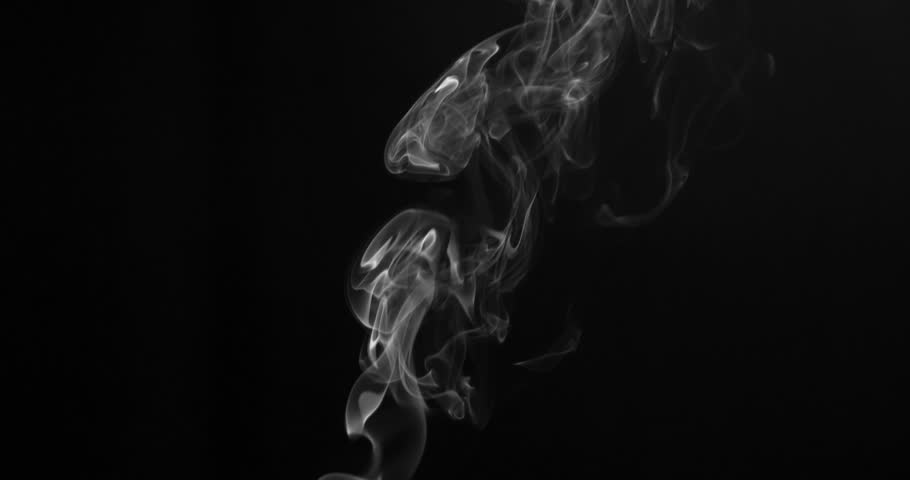 Slow Twilight Twists of White Smoke. White clearly expressed smoke slowly rises from the bottom of the screen and forms elegant twists on a black background. Filmed at a speed of 120fps | Shutterstock HD Video #30347935