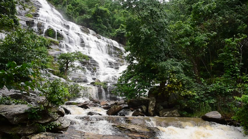 Mae Ya waterfall at Doi Inthanon National Park, Chiangmai, Thailand