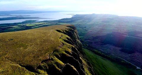 Benwisken and Benbulben Mountain in the Dartry Range.  Sligo, Ireland.