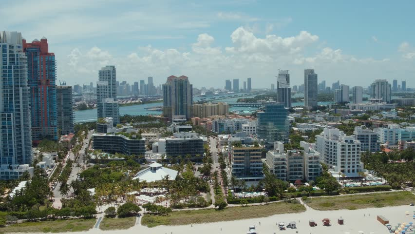 Aerial of South Beach, Miami Beach, FL