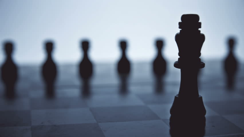 chess king with his servants pawns