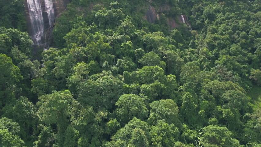 Aerial shot of big waterfall in jungle | Shutterstock HD Video #30539086