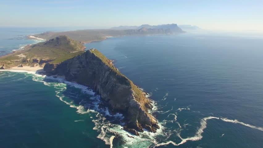 Cape Point, Cape Town High Aerial View