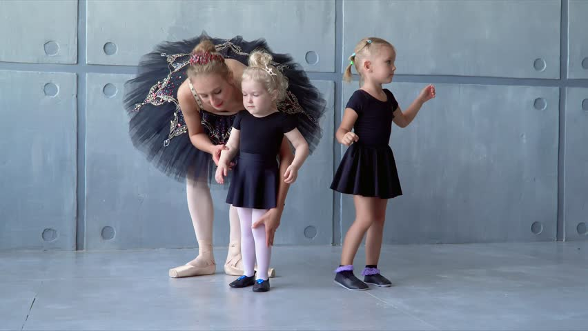 f7aed3a04e77 Girl Dancer in Ballet School Stock Footage Video (100% Royalty-free ...