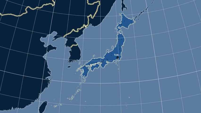 Geographic Equirectangular World Map Projection Example Of Land - Japan map projection