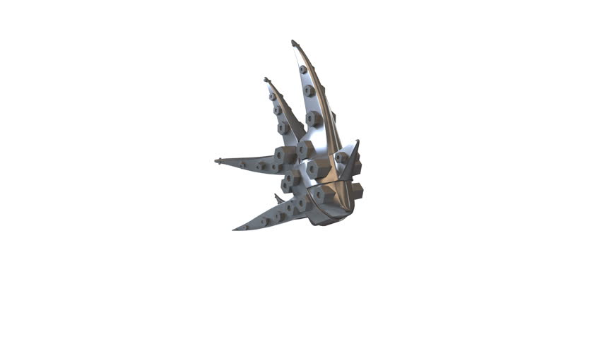 3d Animation of a Dancing Abstract Silver Fish. Video has seamless loop for endless repetition and luma matte for isolation.