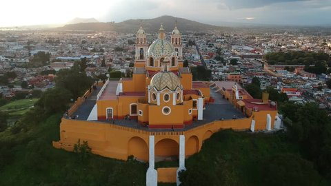 Cholula Mexico Church on Pyramid in Puebla