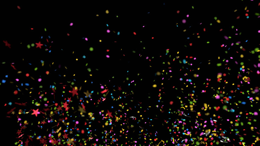 Confetti Explosion Multicolored and Shape variations with alpha channel for compositing on any background | Shutterstock HD Video #30725185