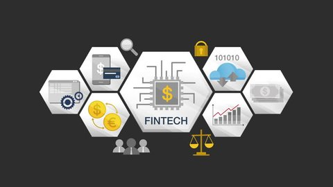 Financial technology illustration icon and various graph.version 2.