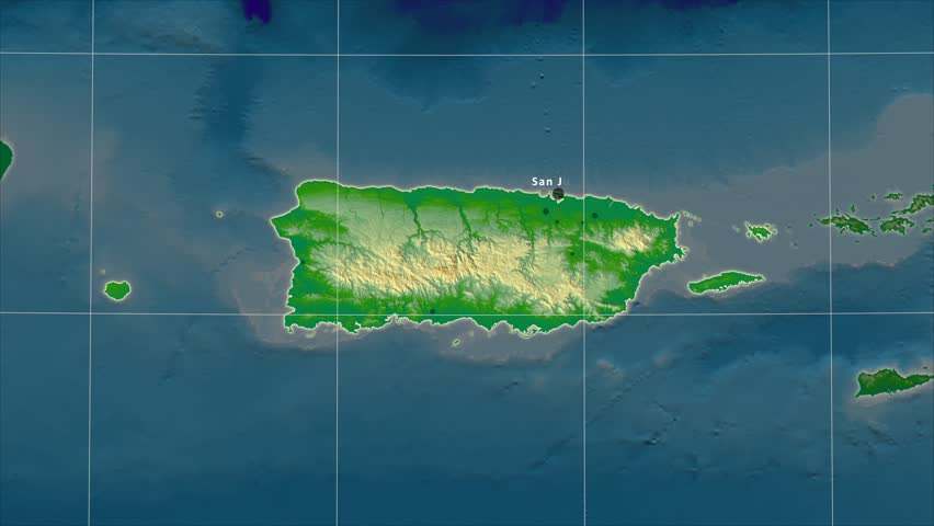 The Puerto Rico Area Map In The Azimuthal Equidistant Projection - Geographical map of puerto rico