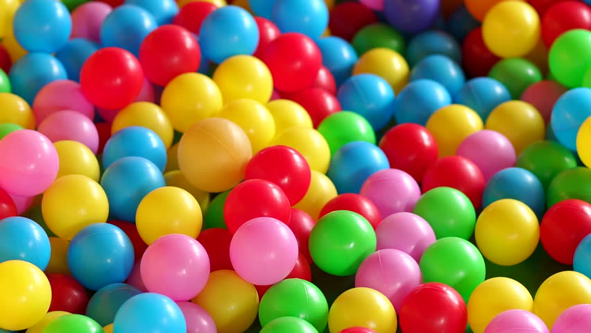 Children's playground with colorful plastic balls in pool. Multicolored balls for children's fun. Background. | Shutterstock HD Video #30844525