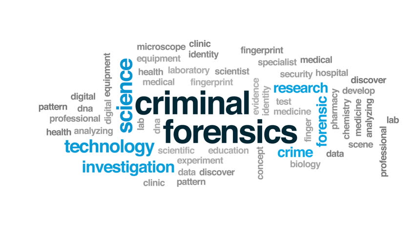 criminal forensics animated word cloud text design animation stock footage video 30851935 shutterstock - Criminal Research Specialist