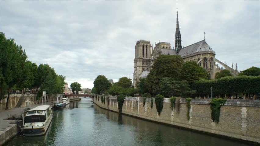 View of Notre Dame de Paris from the Seine river | Shutterstock HD Video #30867832