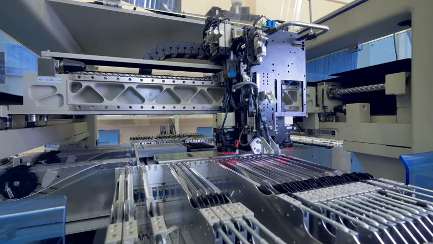 Circut Board machine Produces Printed digital electronic board. 4K.   Shutterstock HD Video #30874495