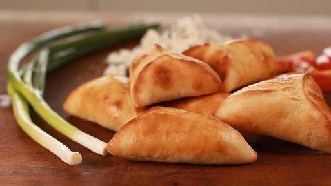 Middle Eastern food Sambousek stuffed with nabulsi cheese Samosa
