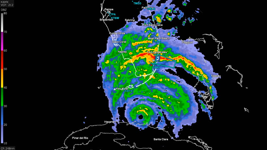 Florida United States September Hurricane Irma On Doppler - Where are cyclones weather map us