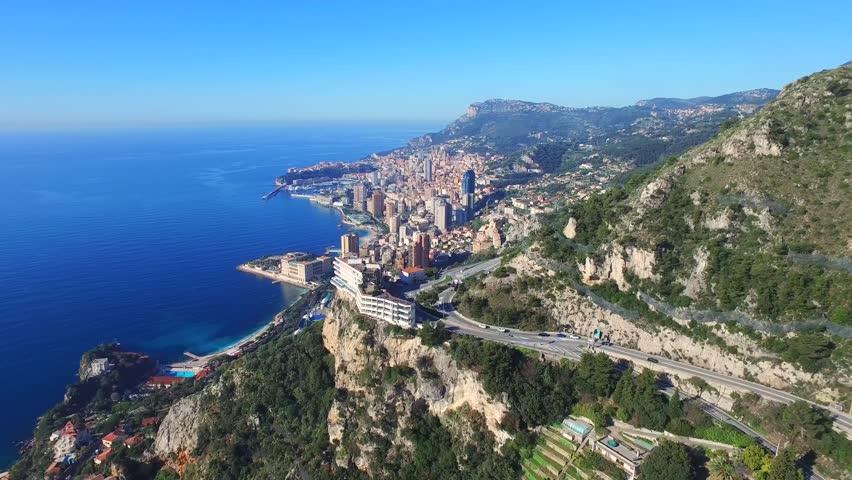Aerial Drone View of Monaco & Monte Carlo