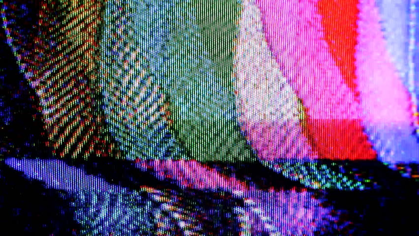 colour bars with static and electronic noise captured from an old television
