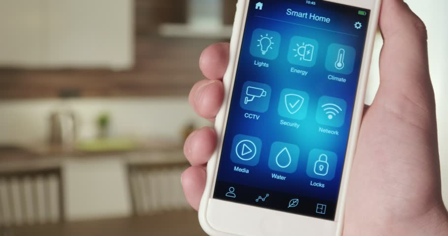 Using smart home app | Shutterstock HD Video #31029235