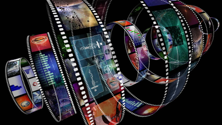 rotating movie film reels loop free motion graphics backgrounds