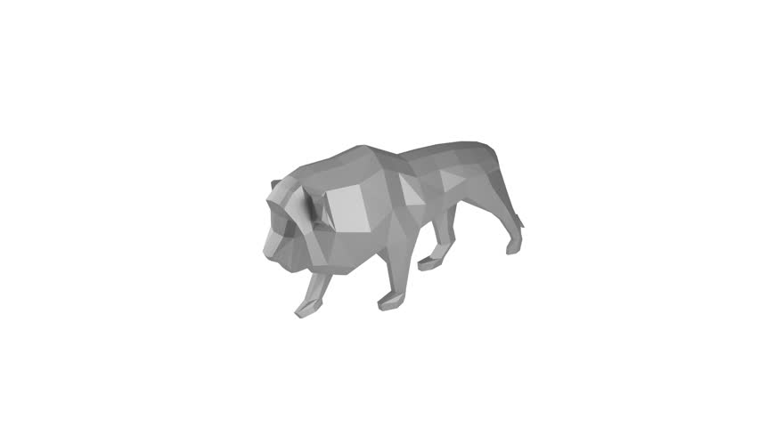 Low Poly Lion Rotating On Stock Footage Video (100% Royalty-free) 31088185  | Shutterstock