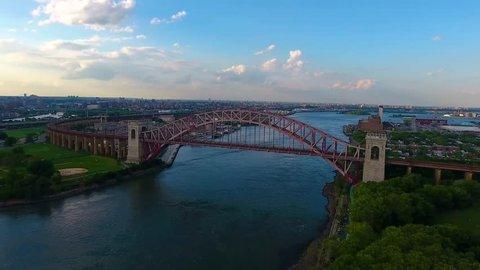 Hell Gate Bridge 05 - Aerial
