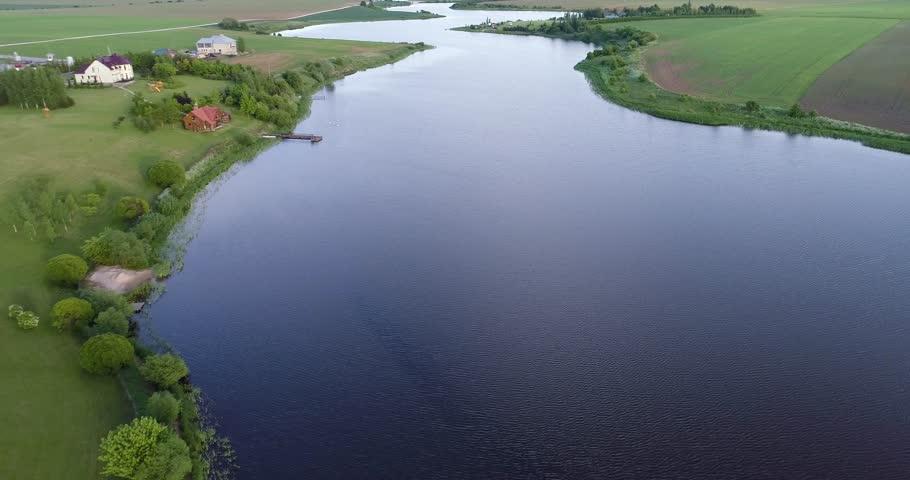 River at morning Birds eye view | Shutterstock HD Video #31114672
