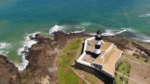Aerial View of Farrol da Barra in Salvador, Bahia, Brazil