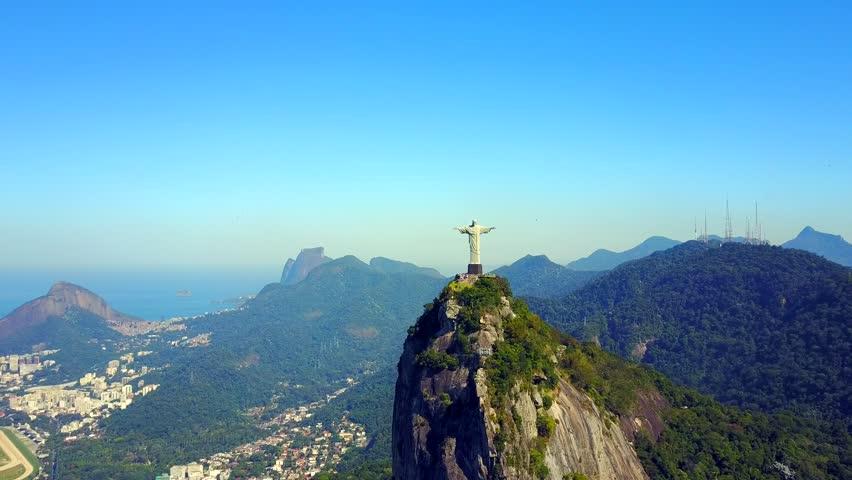 Close Approach of Christ the Redeemer in Rio de Janeiro, Brazil