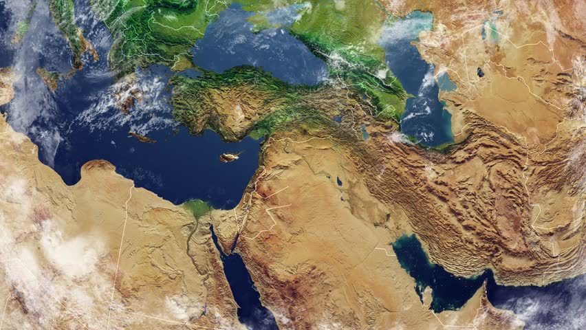 Map of Iraq and Borders, Stock Footage Video (100% Royalty-free) 31201435 |  Shutterstock
