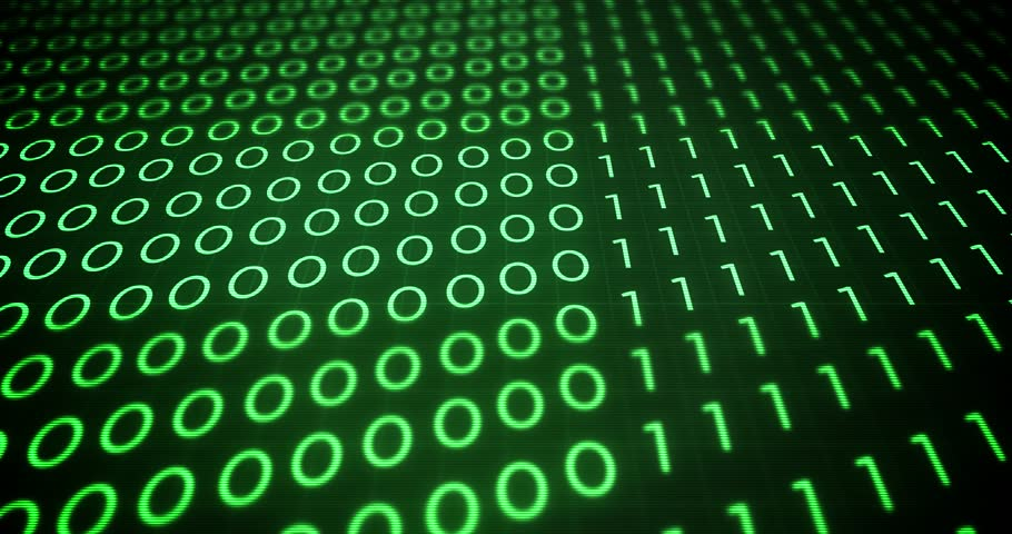 Waves of green computer binary code in a computer system | Shutterstock HD Video #31215685