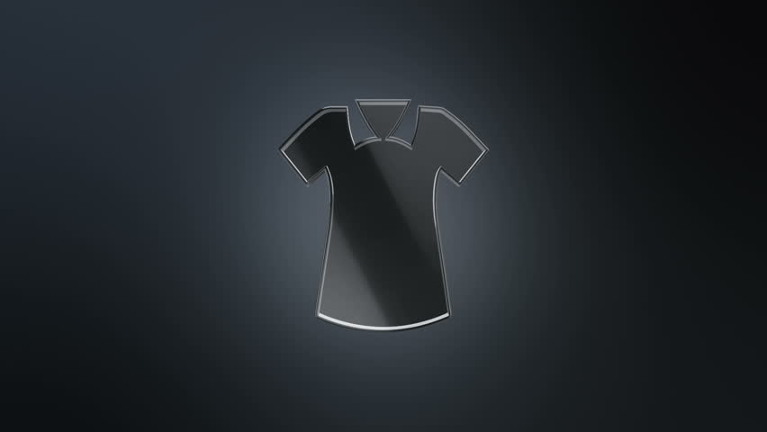3D Animation rotation of symbol of shopping, sales, business of sales, fashion and clothes from glass. Animation of seamless loop.