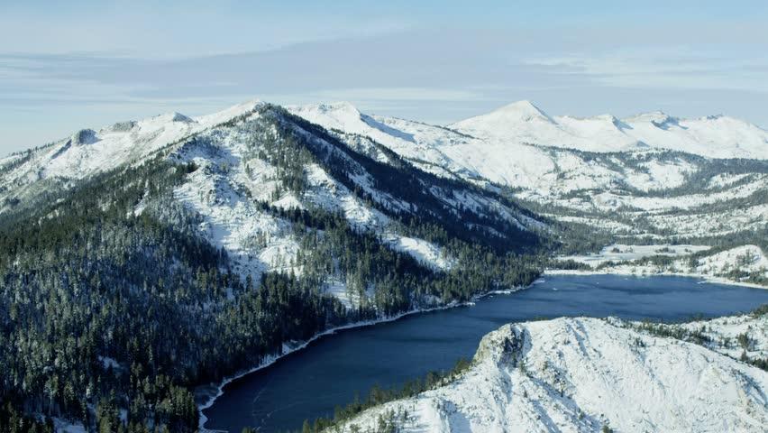 lake tahoe winter landscape