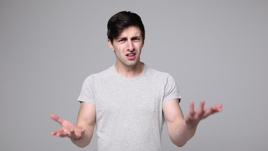 Portrait of Young Man say no, scream no, showing stop sign, Dislike, Rejecting Gesture, Disagree Sign, Crossing hands | Shutterstock HD Video #31248265