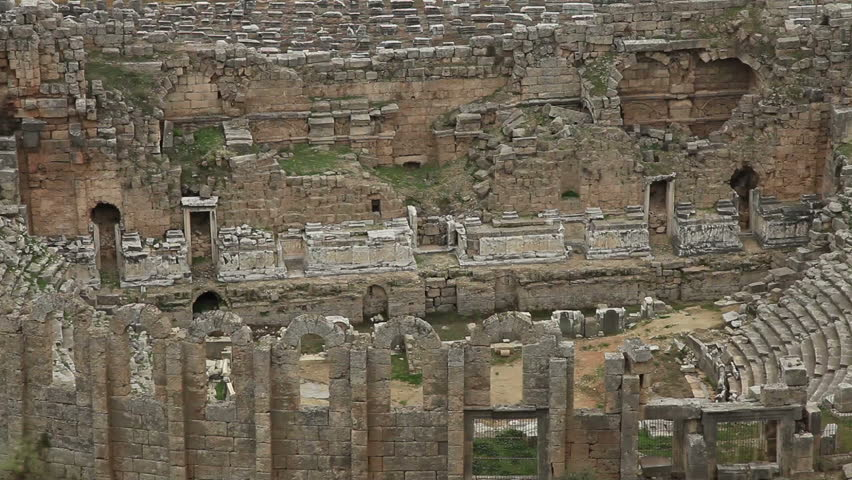 Dating back to 1200 BC, Ancient Amphitheater city of Perge