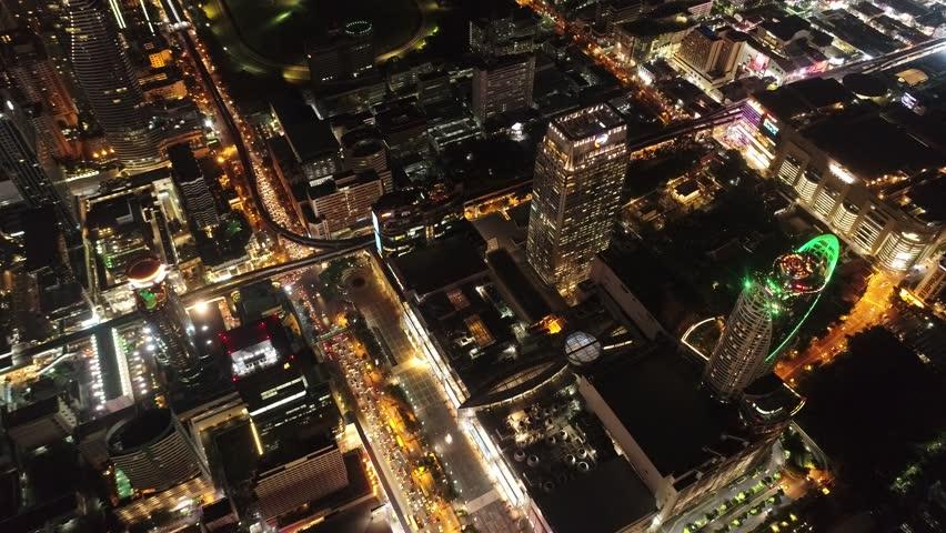 Bangkok at night traffic jams and beautiful city. | Shutterstock HD Video #31278253