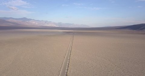 Aerial view on Death Valley salt basin from Dante's vista point, California, USA