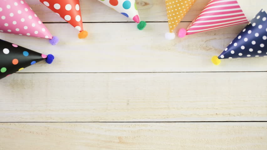 Accessories For Kids Birthday Party Stock Footage Video