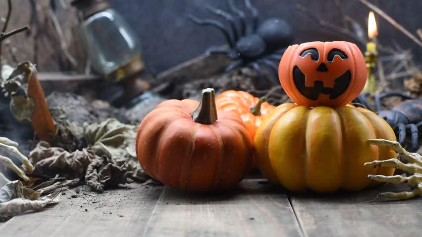 Halloween pumpkin, trick or treat scene | Shutterstock HD Video #31302295