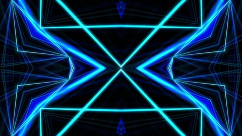 VJ Fractal blue kaleidoscopic background. Background motion with fractal design. Disco spectrum lights concert spot bulb. More sets footage in my portfolio.