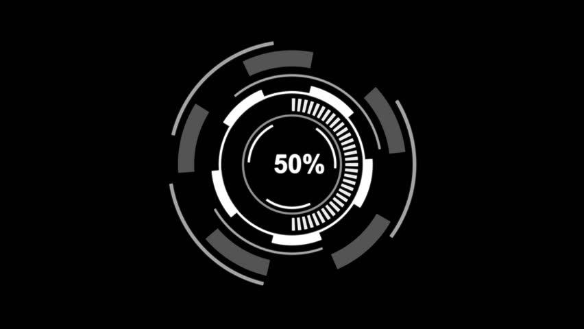 Futuristic Circle Hud Loading Bar Stock Footage Video (100% Royalty-free)  31349905 | Shutterstock