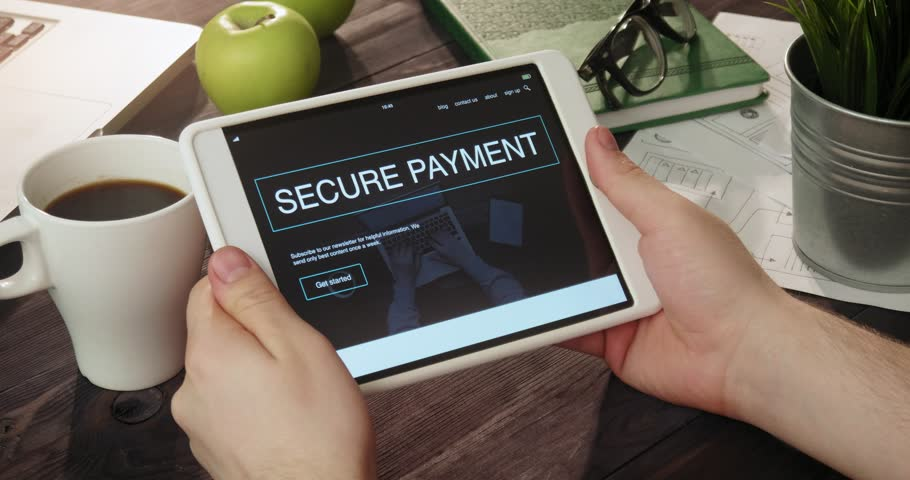 Checking secure payment landing page using tablet computer | Shutterstock HD Video #31354855
