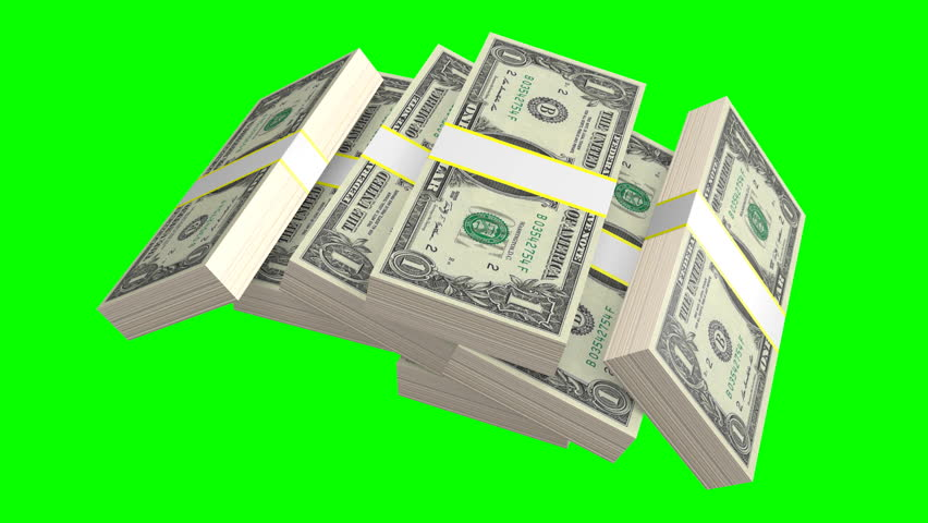3D illustration/ 3D rendering - one dollar banknotes - on green background. | Shutterstock HD Video #31359025