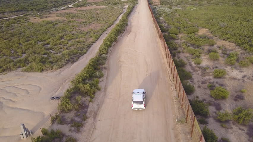 CIRCA S USMexico Border Aerial Over A Border Patrol - Aerial maps over mexican us border