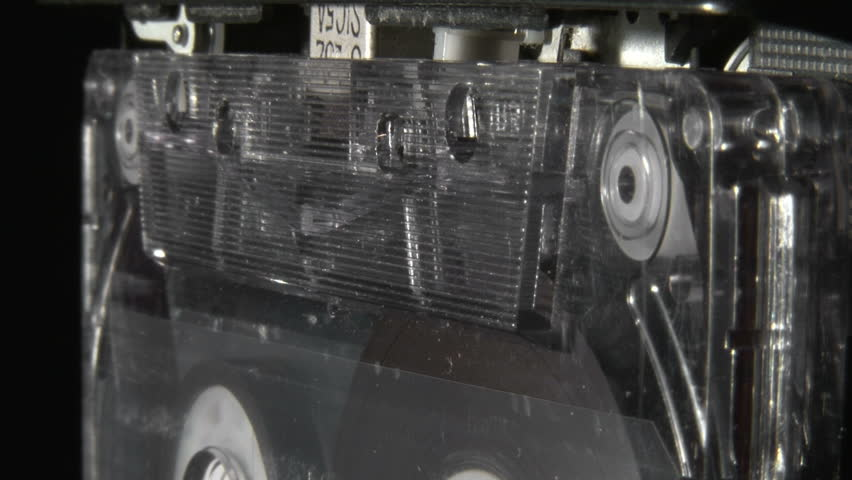Audio cassette playing zoom out