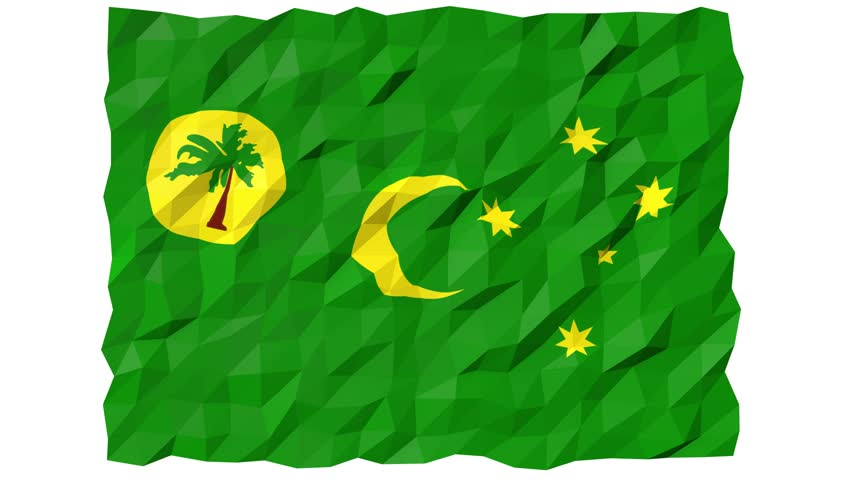 Flag of Cocos Islands 3D Wallpaper Animation, National Symbol, Seamless Looping Footage   Shutterstock HD Video #31392685