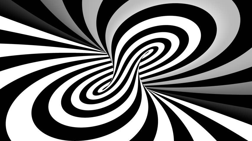 Hypnotic spiral illusion seamless looping