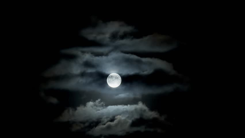 Full moon clouds night sky - time lapse | Shutterstock HD Video #31467025